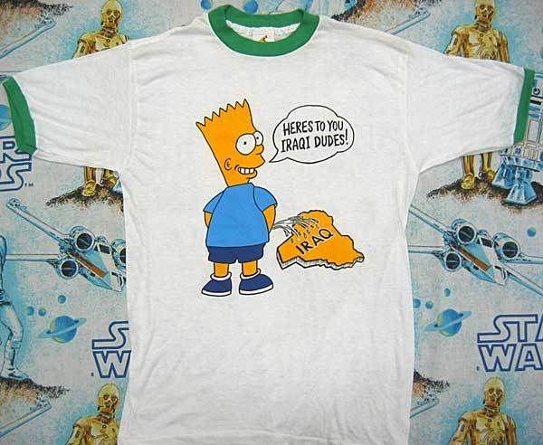 9a627ed68ad2d Heres to you Iraqi dudes! | fashion | Shirts, Bart simpson, T shirt