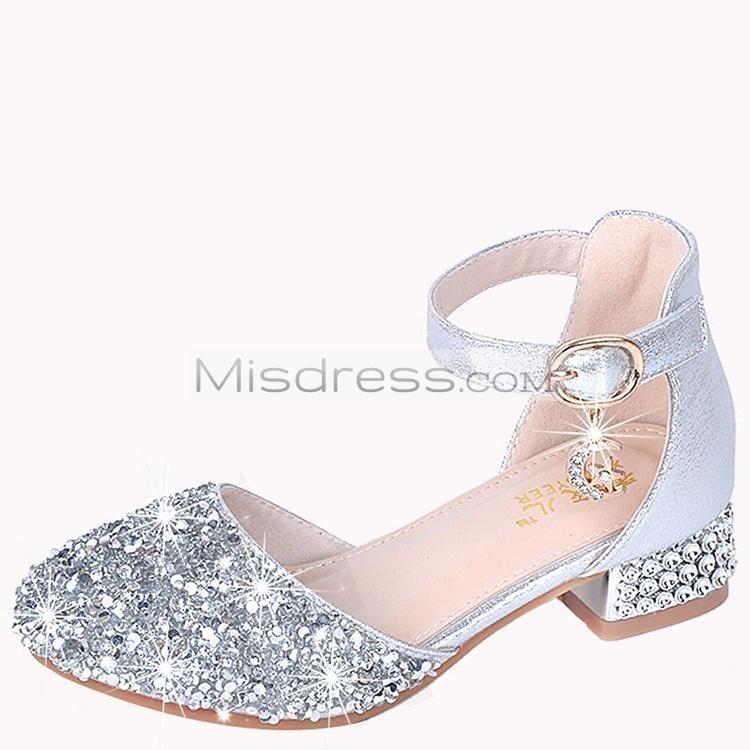 Baby Girls Leather Princess Shoes Kids Flower Rhinestone Wedding Party Sandals
