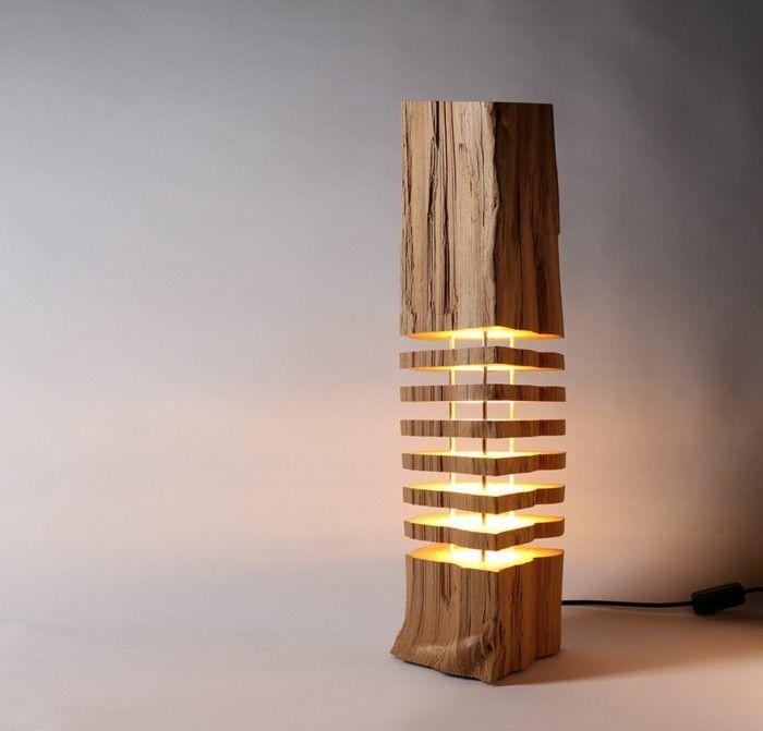 Kreative Designer Lampen aus Naturholz | Holzleuchte