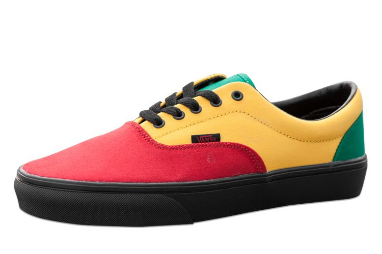 ffe6e622c76 Vans Rasta Jamaica Casual Era Skate Shoes Red Yellow Green For Sale  Vans