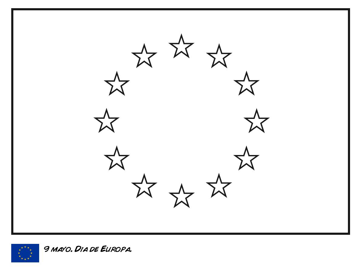 Bandera Europa Colorear   Geografía   Pinterest   Banderin, Banderas ...