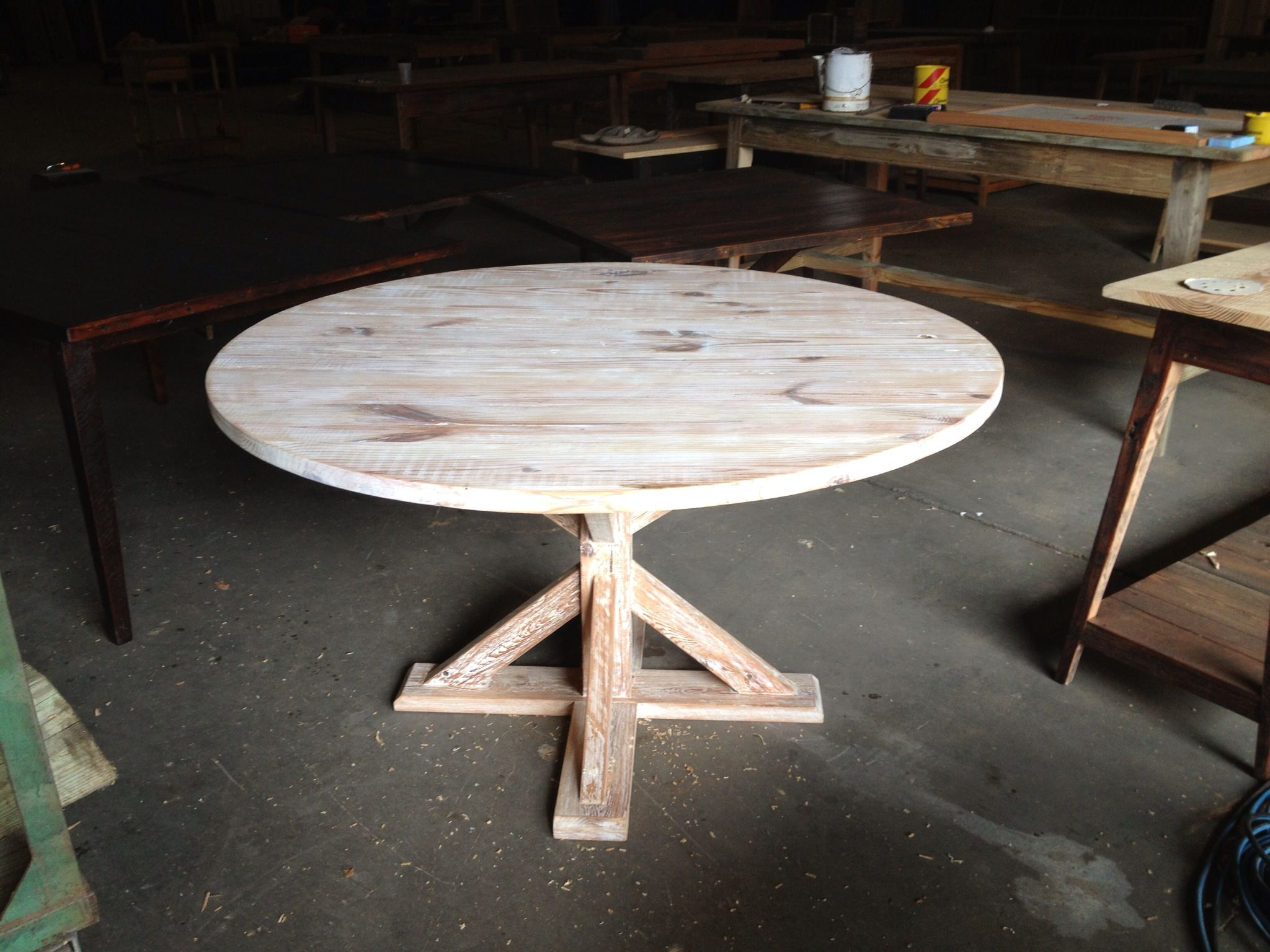 Kitchen Dining Table Made From Reclaimed Wood By Landrum Tables