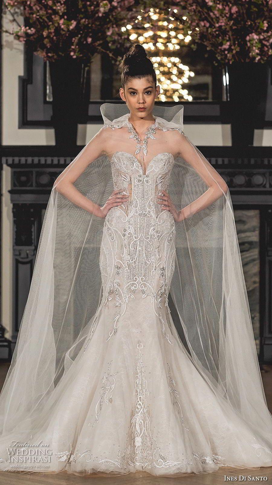 Ines di santo spring bridal strapless sweetheart neckline full