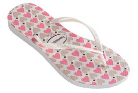 eab63a5b7 Check out the deal on havaianas kids slim love  white at Agua Viva ...