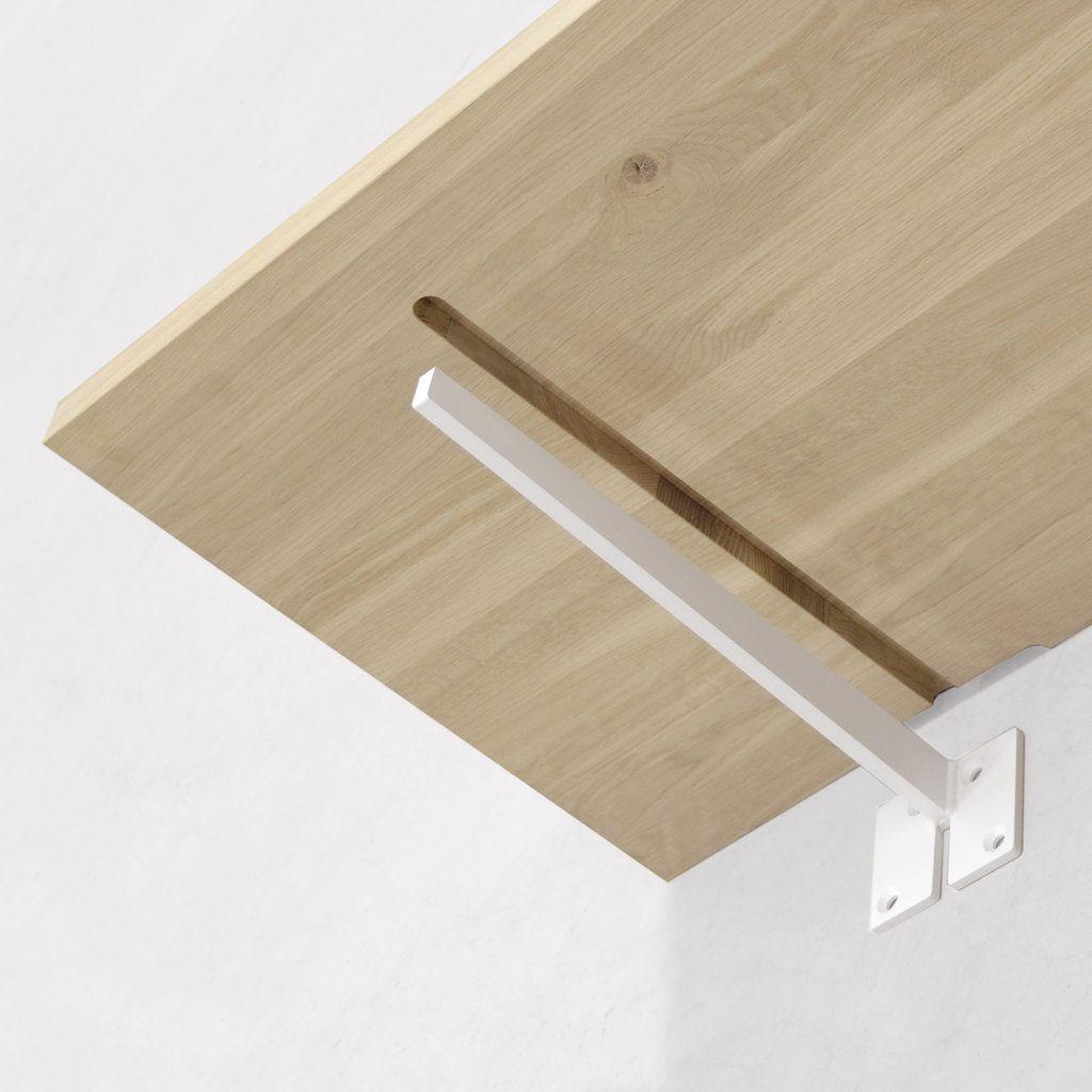 Plank Met Onzichtbare Bevestiging.Wandbeugel Plano Blind Opbouw Housing Houten Planken Houten