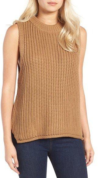 Joa Rib Knit Sleeveless Sweater I Need Fashion Inspiration