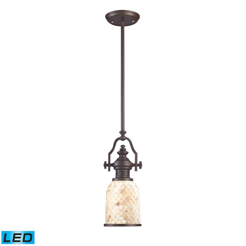 Chadwick 1-Light Pendant In Oiled Bronze And Cappa Shell - Led 66432-1-LED by Elk Lighting - Chadwick 1-Light Pendant In Oiled Bronze And Cappa Shell - Led 66432-1-LED by Elk LightingThe Chadwick Collection Reflects The Beauty Of Hand-Turned Craftsmanship Inspired By Early 20Th Century Lighting And Antiques That Have Surpassed The Test Of Time.  This Robust Collection Features Detailing Appropriate For Classic Or Transitional Decors.  White Glass Compliments The Various Finish Options…