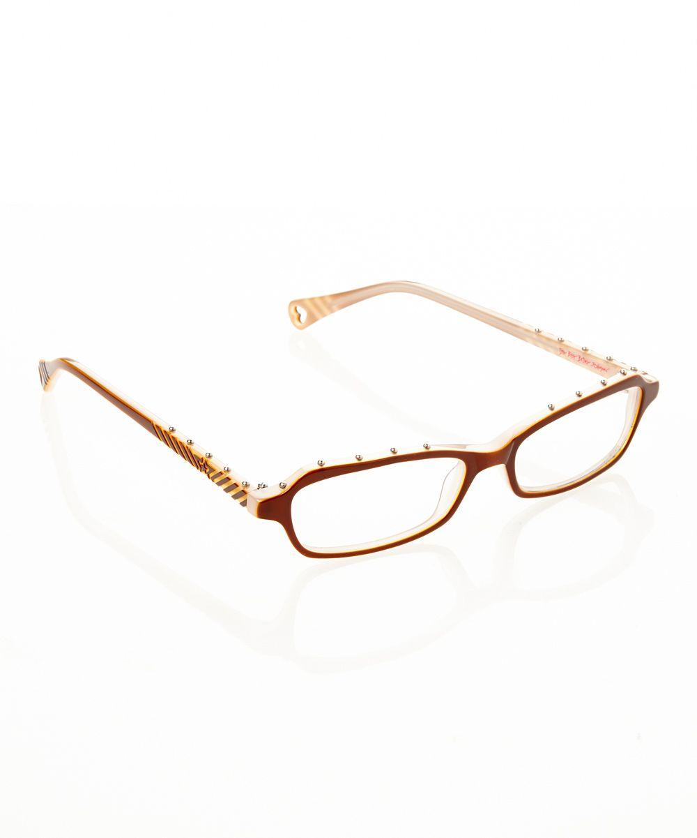 Espresso Itsy Bitsy Hard Rock Eyeglasses | zulily by Betsey Johnson ...