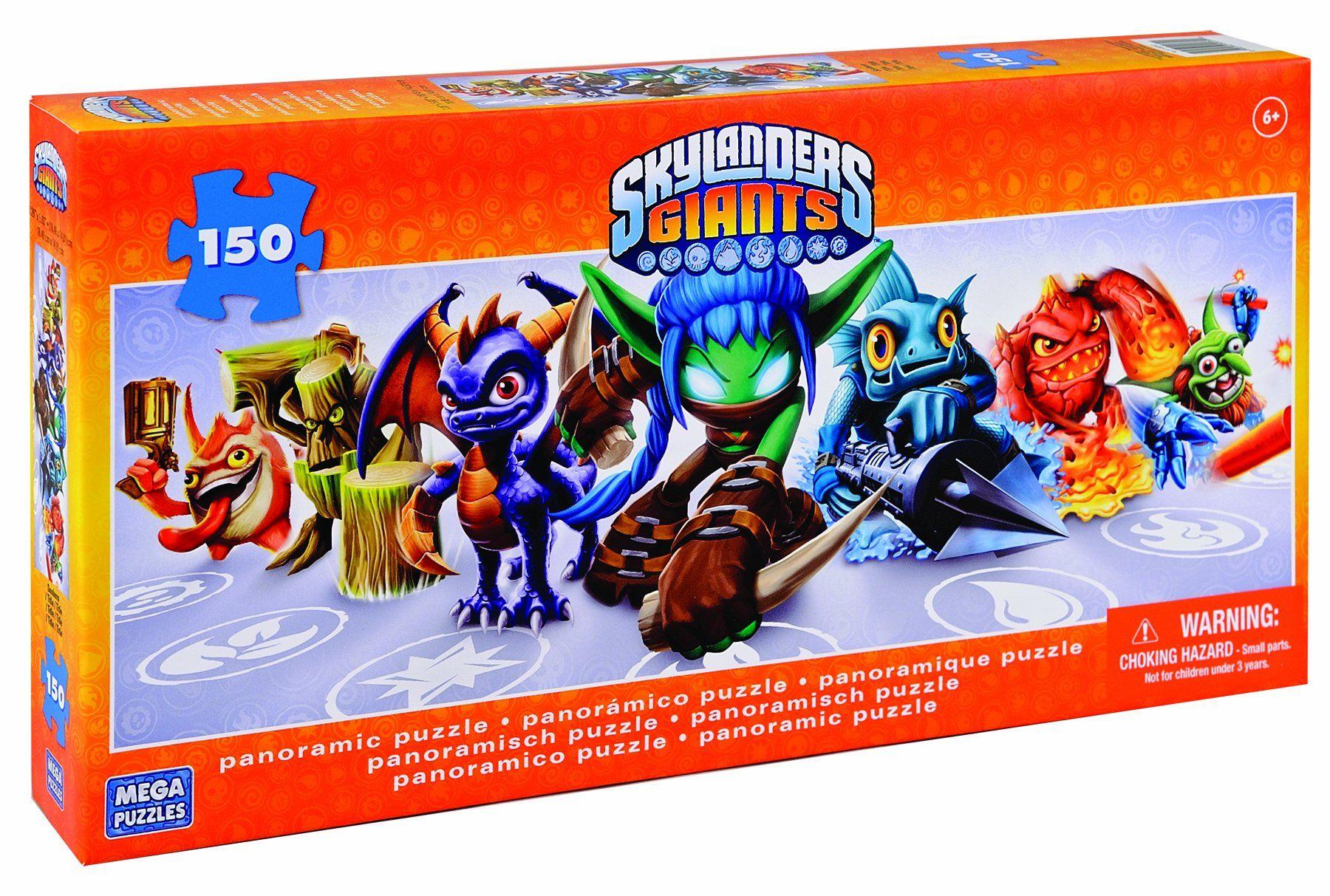 Amazon.com: Skylanders Giants Mega Puzzles 150 Piece Panoramic Jigsaw: Toys & Games
