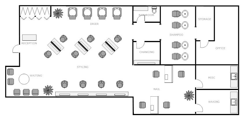 Nail Salon Floor Plans Floor Plans Kuaforler