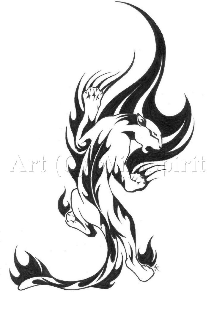 I Might Get This On My Calf Tribal Panther Tattoo 1