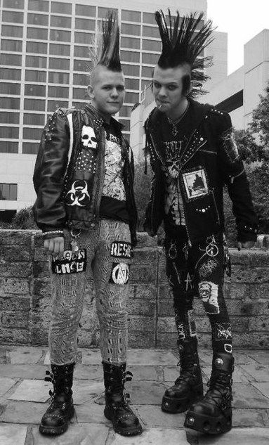 Two Male Punks With Mohawks Punk Aholic Pinterest Punk Punk