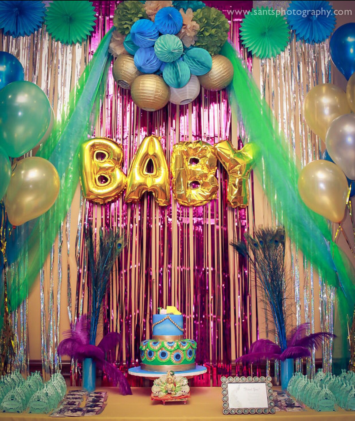 Peacock Theme Baby Shower Party By Neha Peacock Baby Shower