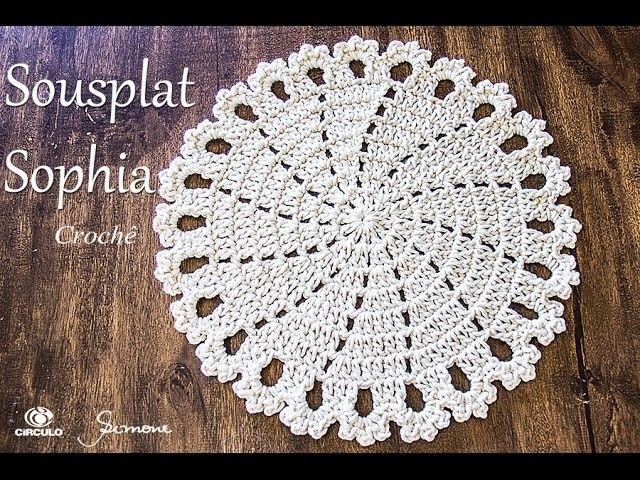 Sousplat de Crochê - Sophia - Simone Eleotério | Pinterest | Tejido ...