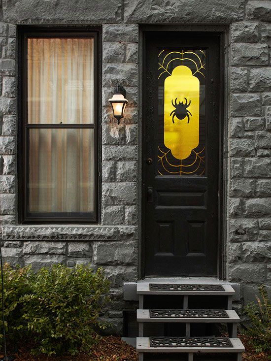 Spooky+spider+window+decoration+spooky+decoration+halloween+spider+ - large halloween decorations