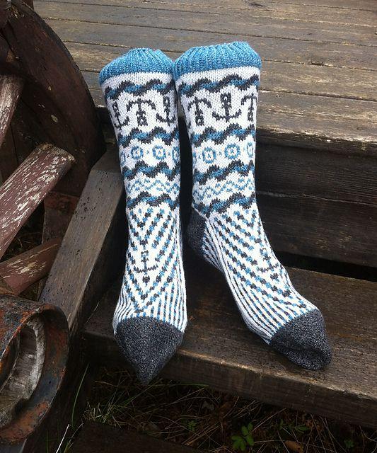 """Dette er et av 3 mønster som jeg gav ut i eboka """"Sokker i blåtimen"""" sammen med Bitta Mikkelborg."""