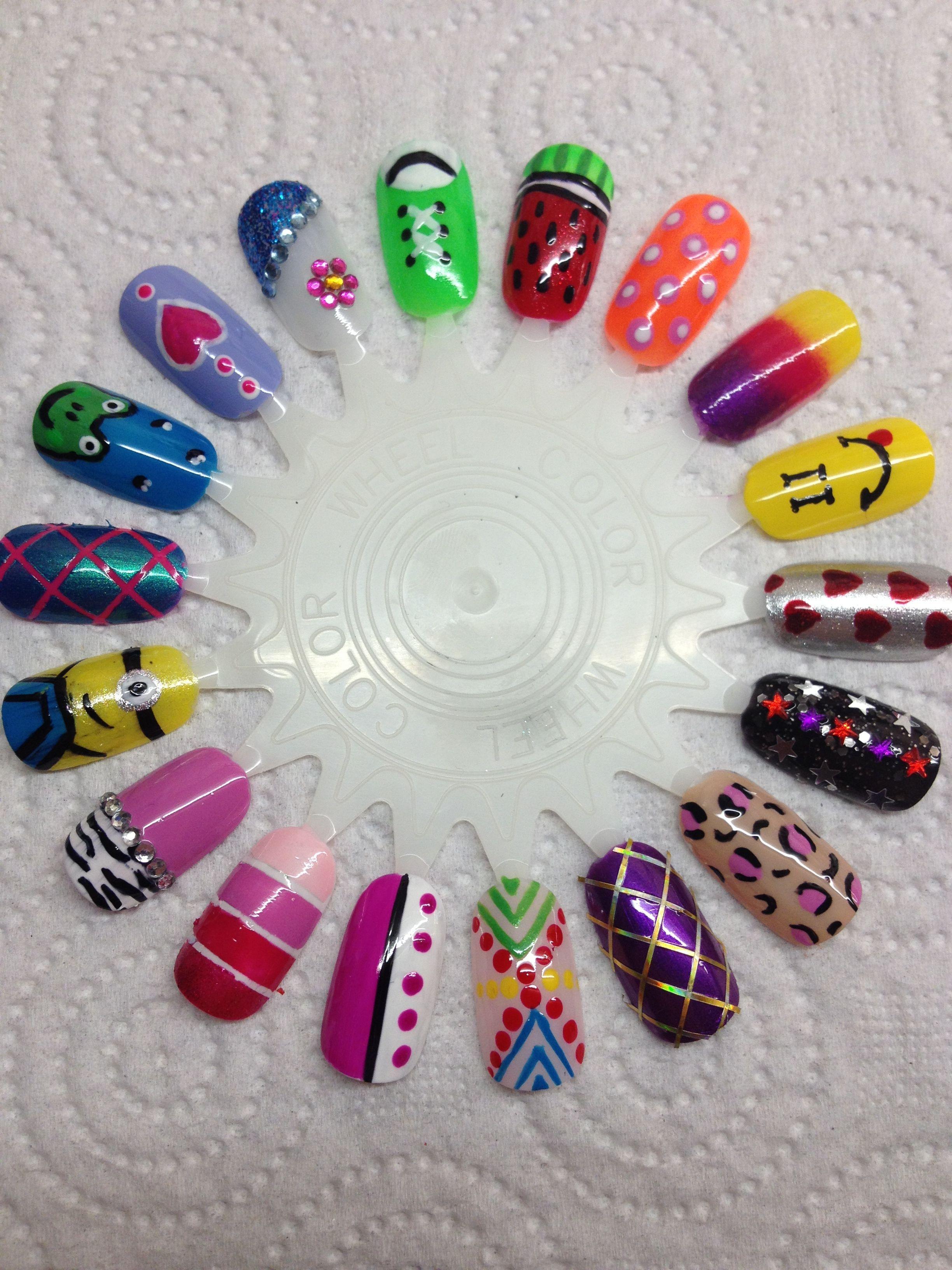 My Colour Wheel Of Nail Art Nail Art Pinterest Nails Nail