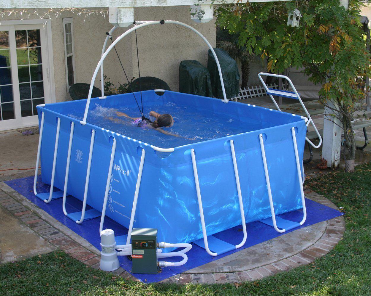 Amazon.com: iPool Above Ground Exercise Swimming Pool ...