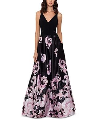 Black Formal Dresses For Women Macy S In 2020 Printed Gowns Floral Print Gowns Formal Dresses For Women