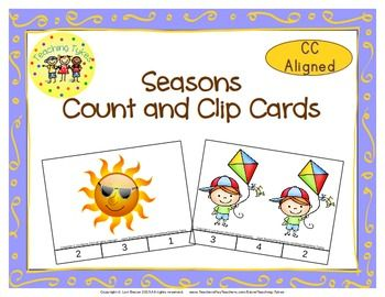 Practice counting 1 to 20 with Seasons.