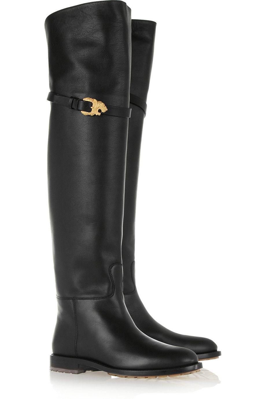 Shoe Addiction // Valentino | Animalia black leather over-the-knee boots |