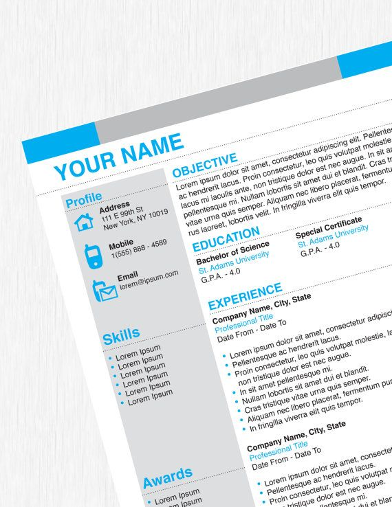 Professional Business Creative Resume Design Template Resume
