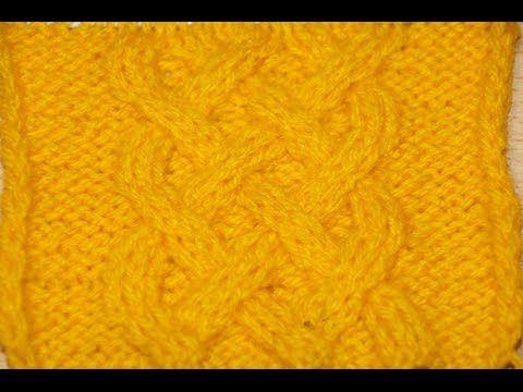 Вязание кельтской косы на спицах 22