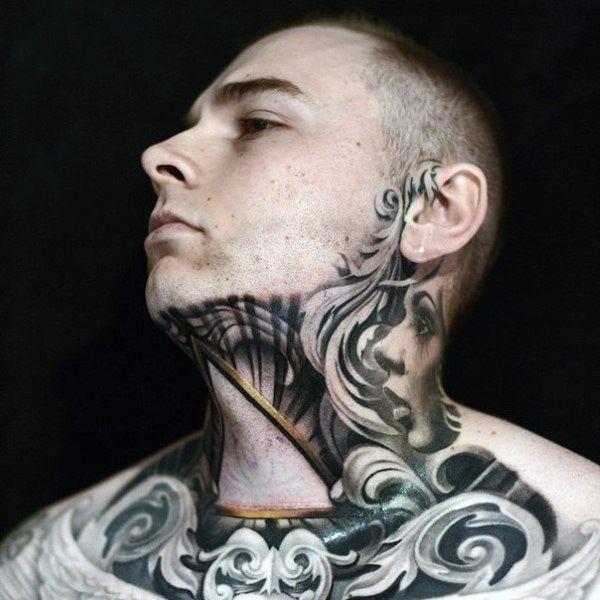 The 80 Best Neck Tattoos For Men: Cool Masculine Design Ideas