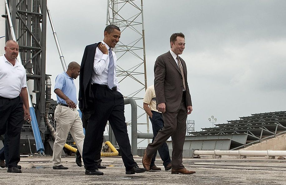 Engineering Leadership (US Pres. Barack Obama and Elon Musk)
