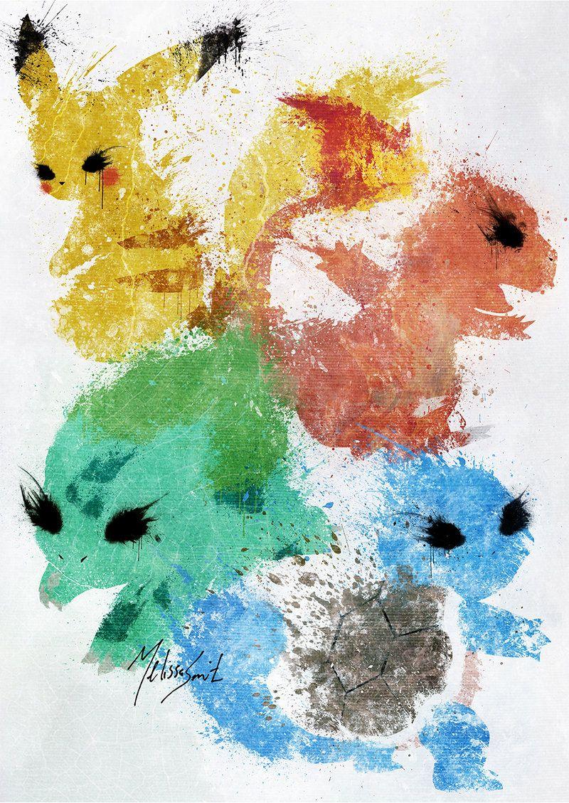 Pokemon Starters by BOMBATTACK.deviantart.com on @DeviantArt