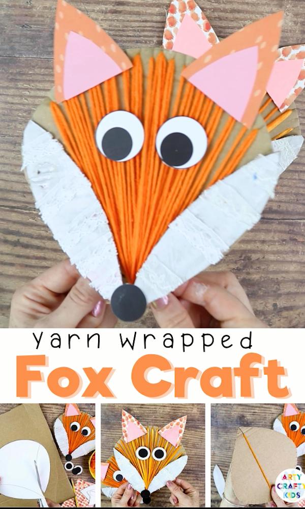 Yarn Wrapped Fox Craft