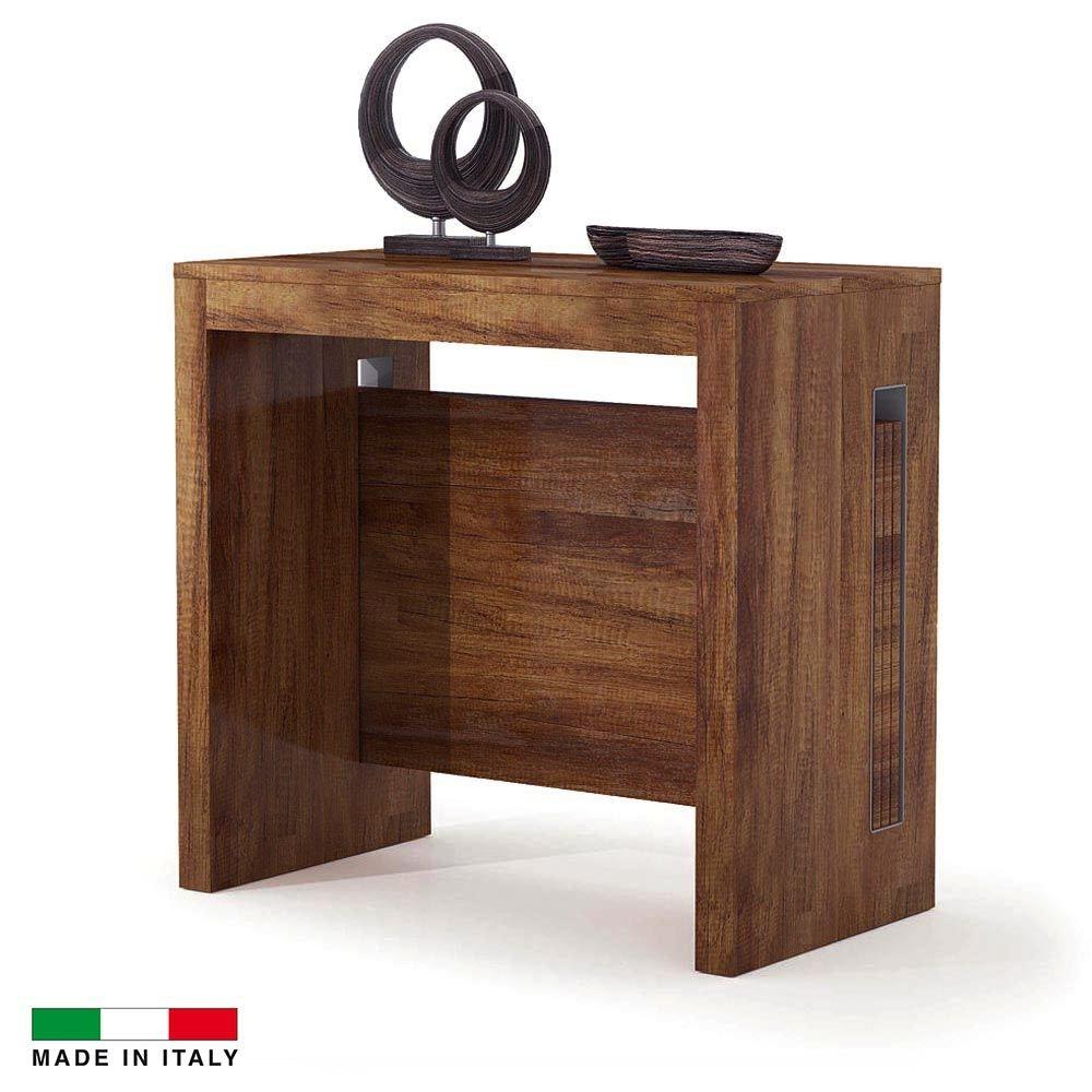 Table Console Extensible Grazia 3 Allonges Integrees Noyer Table Console Topkoo Table Console Extensible Console Extensible Console