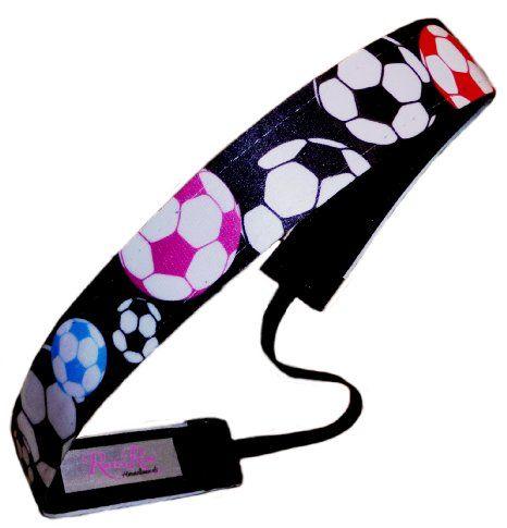 Amazon.com: RazzyRoo Headbands Adjustable Non Slip Headband Soccer World: Sports & Outdoors