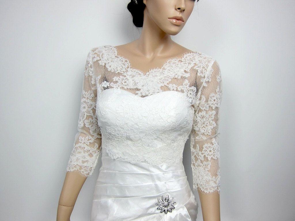 Dress with jacket for wedding  Lace bolero jacket Bridal Bolero Wedding jacket wedding bolero