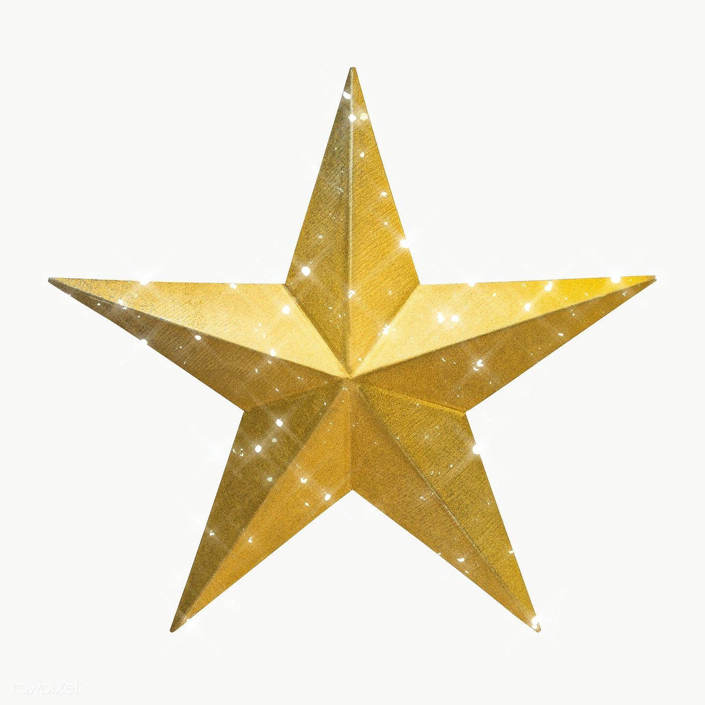 Sparkling Gold Star Design Element Free Image By Rawpixel Com Manotang Star Illustration Gold Stars Design Element