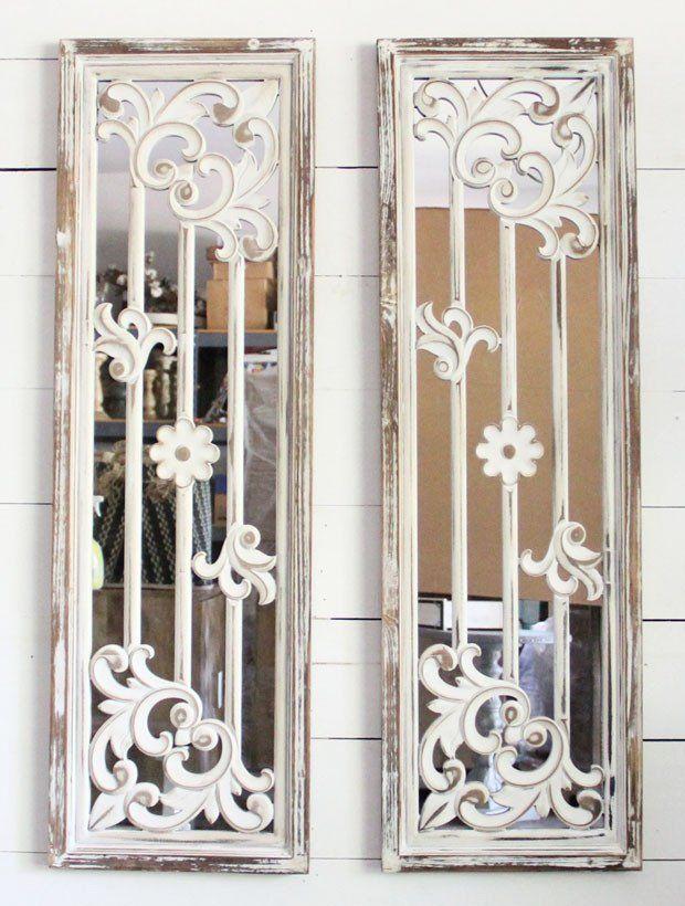 Decorative Wall Mirror Panel, Set of 2 | Mirror wall decor ...