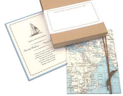 Inviti a tema per sposi viaggiatori - Source: www.kenziekate.com