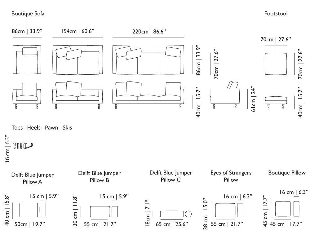 sofa bed dimensions
