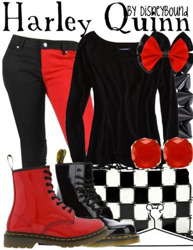 harley quinn chaussures pinterest tenues soiree et m chants. Black Bedroom Furniture Sets. Home Design Ideas
