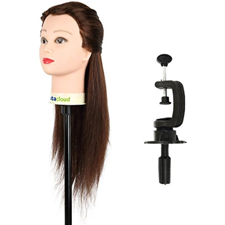 "CoastaCloud 24"" Mannequin Head with 95 Human Hair"