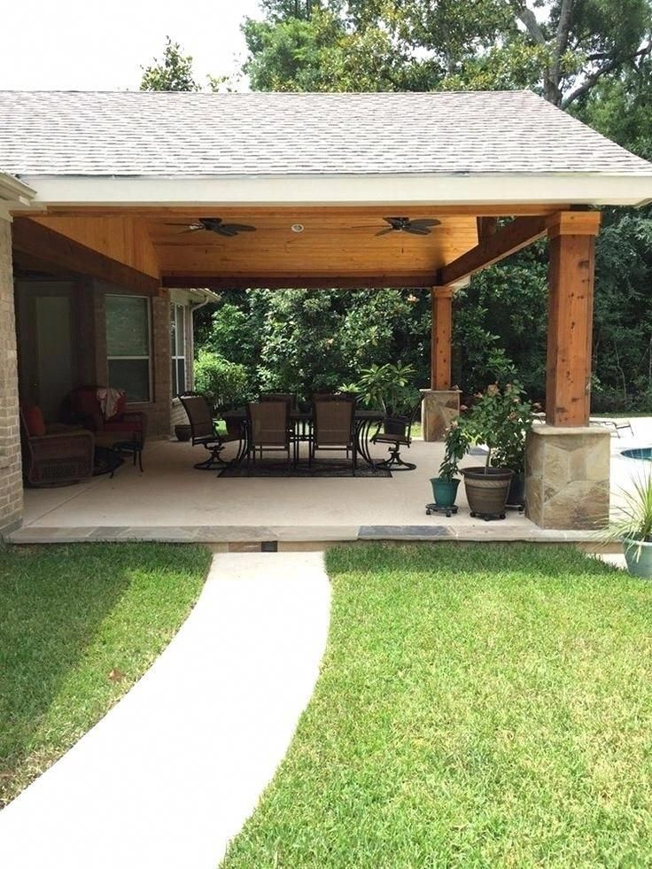 Pergola With Roof Attached To House Best Patio Ideas On