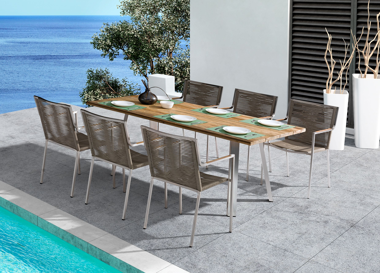 Sitzgruppe Aus Metall Und Holz Gartenmobel Fur Schone Stunden Gartenmobel Gartentisch Holz Metall Gartentisch Holz