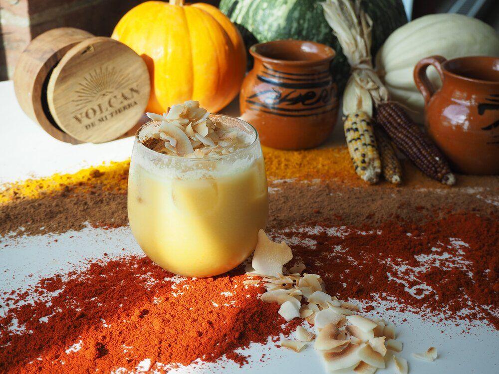 Candy corn gimlet halloween cocktail recipes halloween