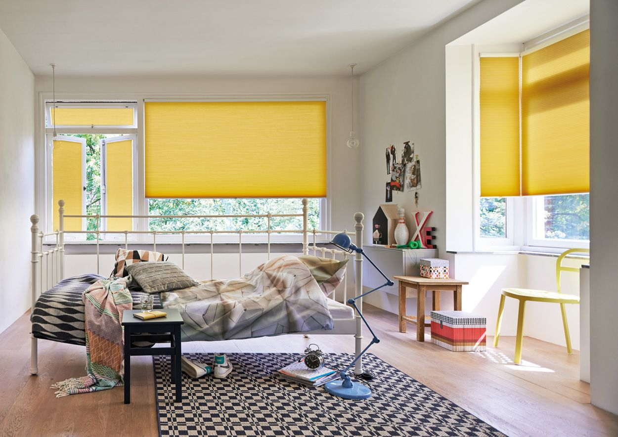 Add zest to your window with a bright Luxaflex Duette Shade in sunny ...