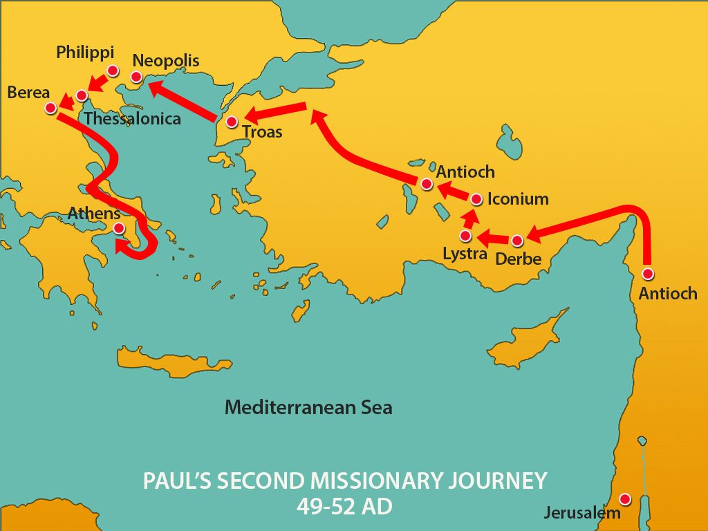 Mars Hill Scripture Reference Acts 171634 Story Overview – Map Of Pauls Travels