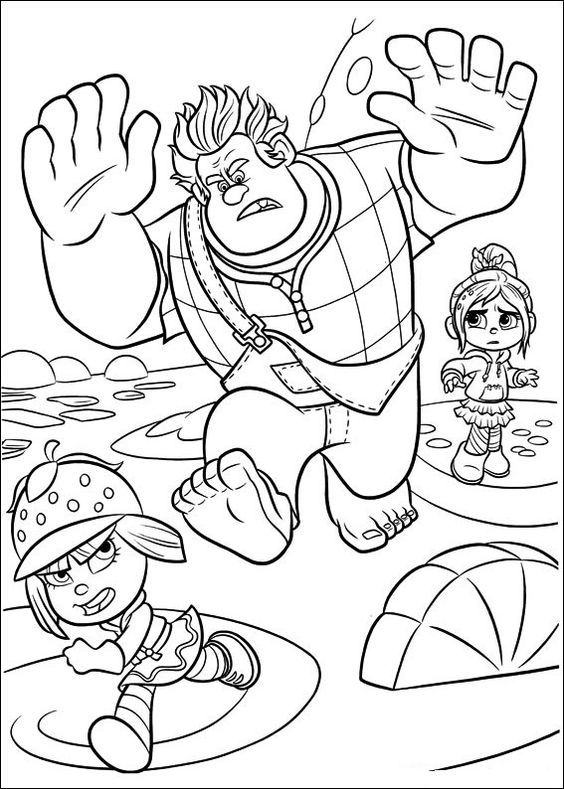 Wreck It Ralph Coloring Pages Best Coloring Pages For Kids Disney Coloring Pages Disney Coloring Pages Printables Cartoon Coloring Pages