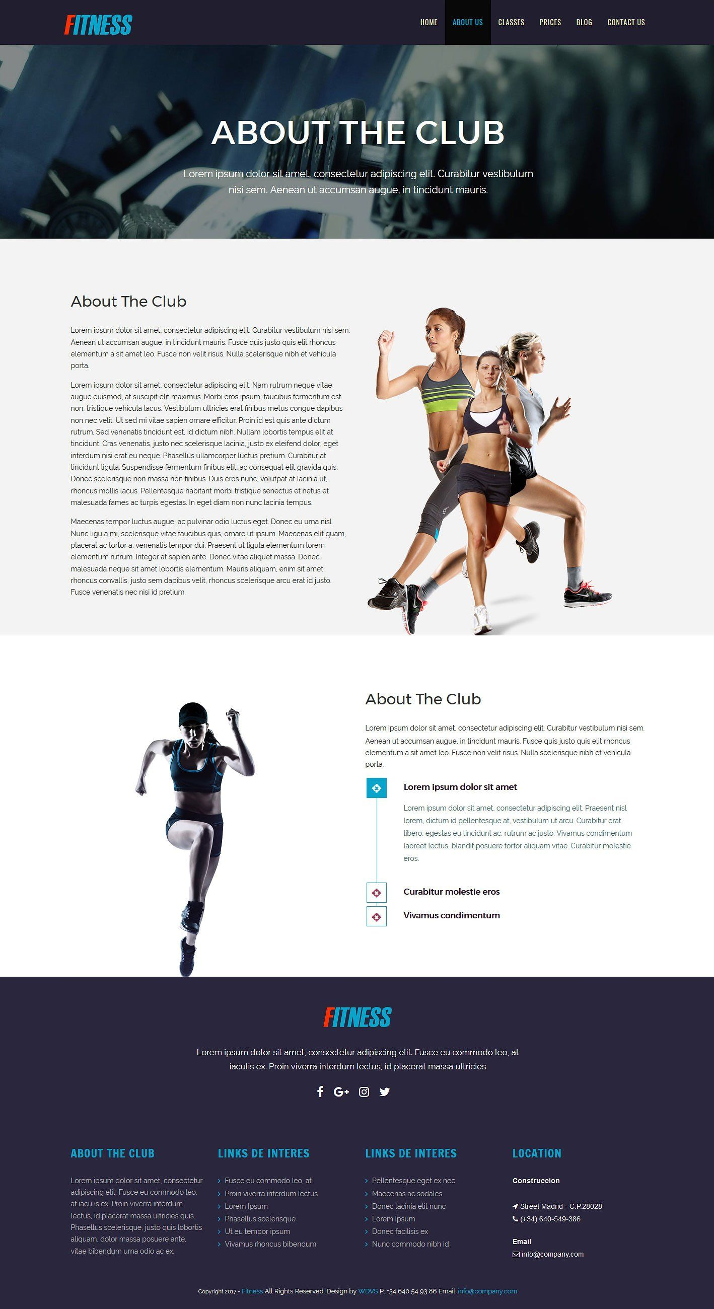 fitness plus html template pilates yoga activities similar web