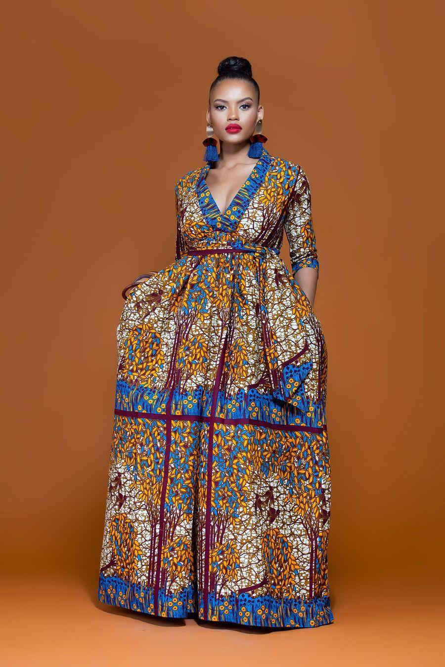 African print togo maxi dress mes robes pinterest africans