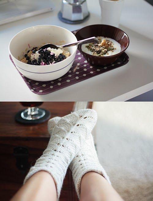 Lunni leipoo: Puuroa joka viikonpäivälle. No pattern but they look amazing. Anyone know this stitch?