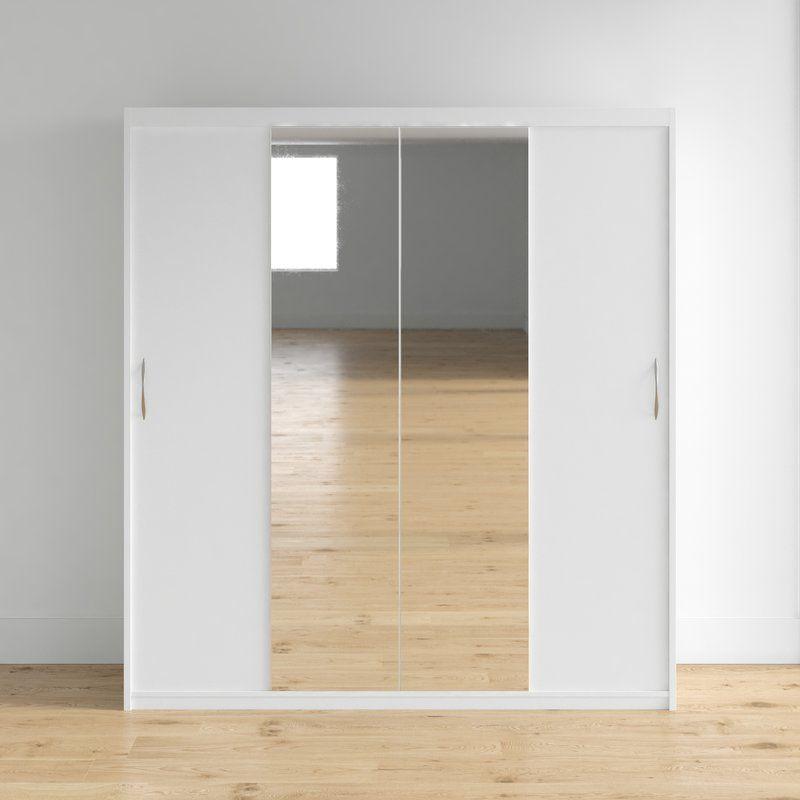 Zanders Armoire With Mirror Sliding Doors Corner